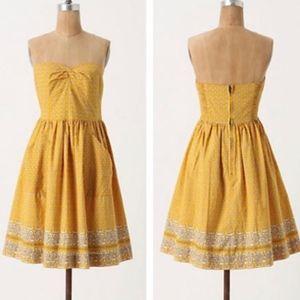 NWT Girls from Savoy Yellow Bandana Dress size 6